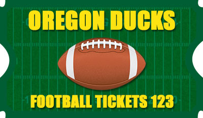 Oregon Football Tickets 123 Logo